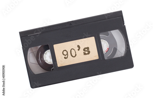 Vászonkép  Retro videotape isolated on white
