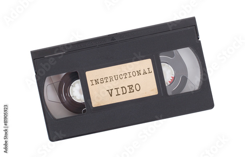 Valokuva  Retro videotape isolated on white