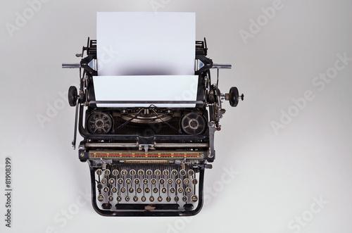 Fotobehang Retro alte schreibmaschine, tastatur