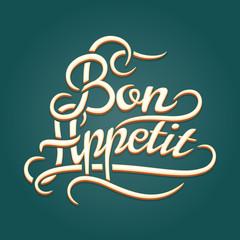 Bon Appetit vintage lettering