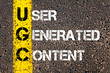 canvas print picture - Business Acronym UGC as USER GENERATED CONTENT