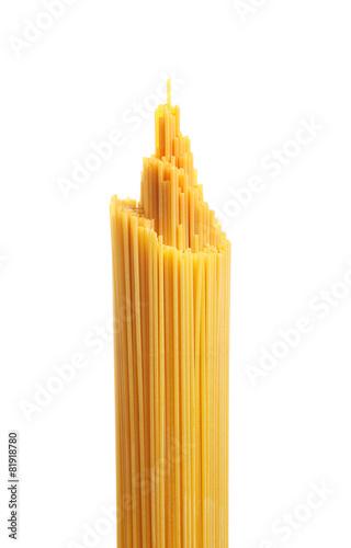 Photo Bunch of spaghetti pasta. Isolated on white background