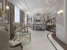 Elegant Living Room In Classic Style