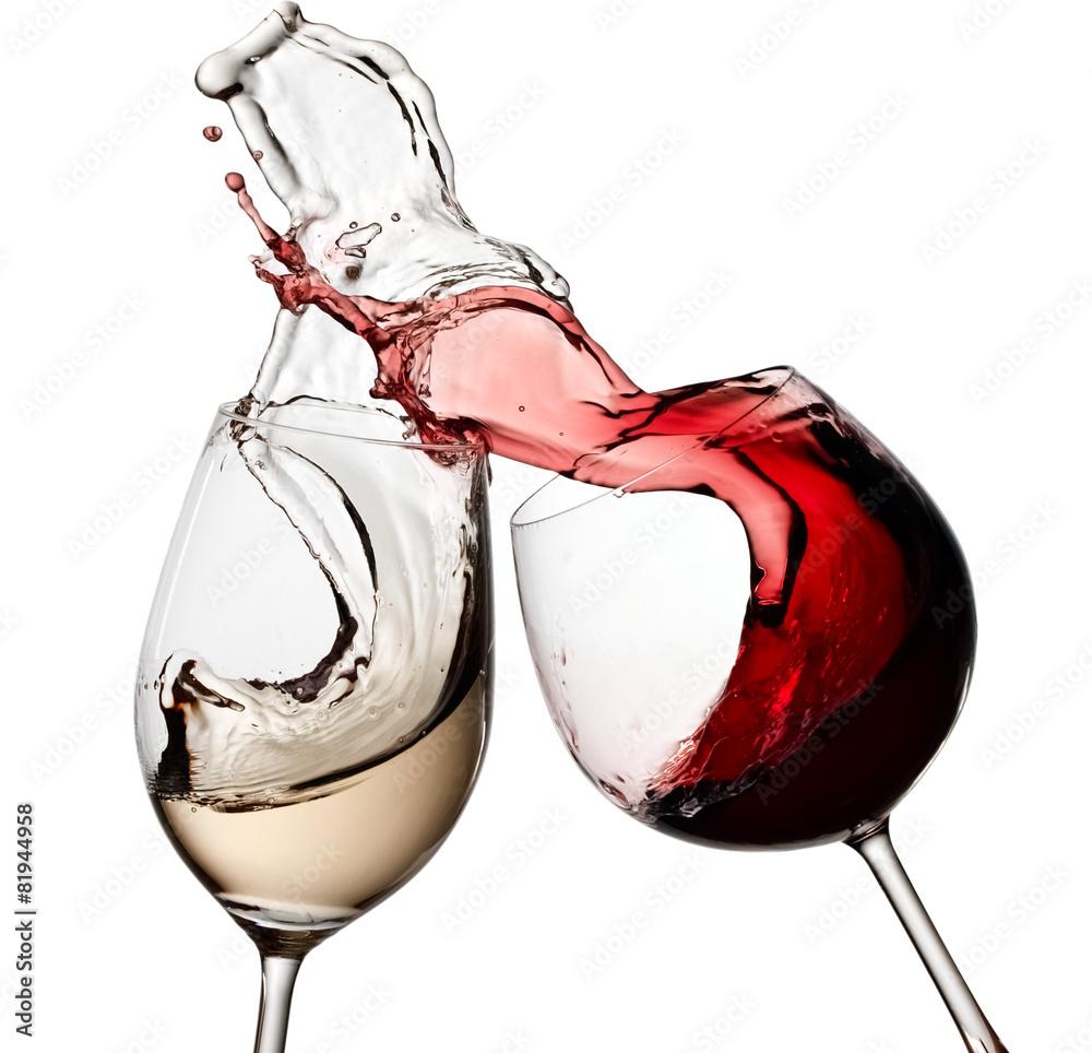 cr dence de cuisine en verre imprim red and white wine up nikkel. Black Bedroom Furniture Sets. Home Design Ideas