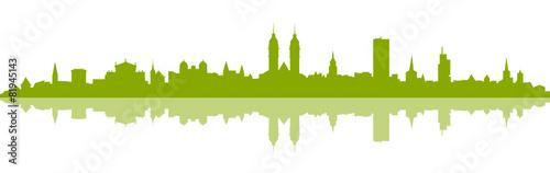 Foto op Plexiglas Groene Skyline Winterthur grün