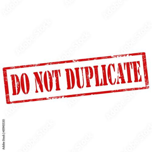Fotografie, Obraz  Do Not Duplicate-stamp