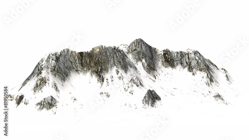 Snowy Mountains - separated on white background #81950584