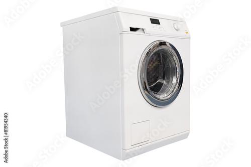 Fotografie, Obraz  Washing machine isolated on white background