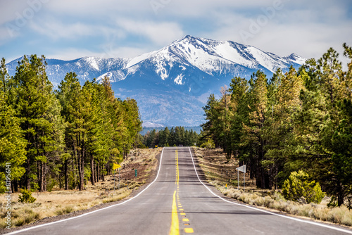 Photo Stands Arizona landscape with Humphreys Peak Tallest in Arizona