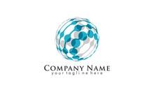 Globe Shape Logo Vector