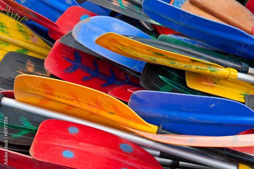Wallpaper Mural Colorful oars