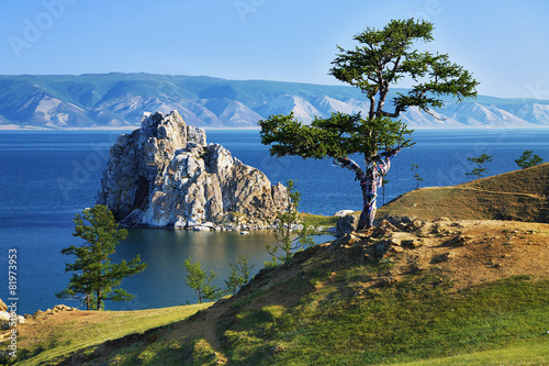Tree of desires on Lake Baikal Canvas Print