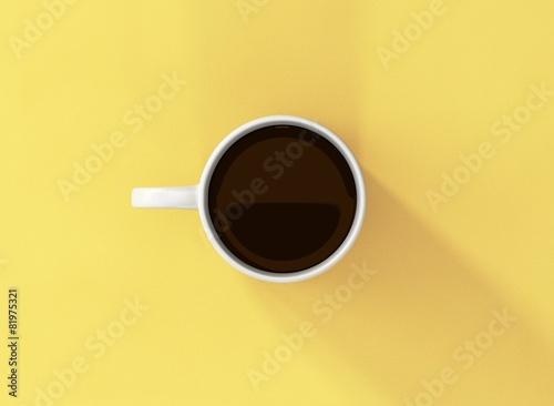 Fototapeta Kaffee Tasse weiss Vorlage mit Hintergrund obraz na płótnie