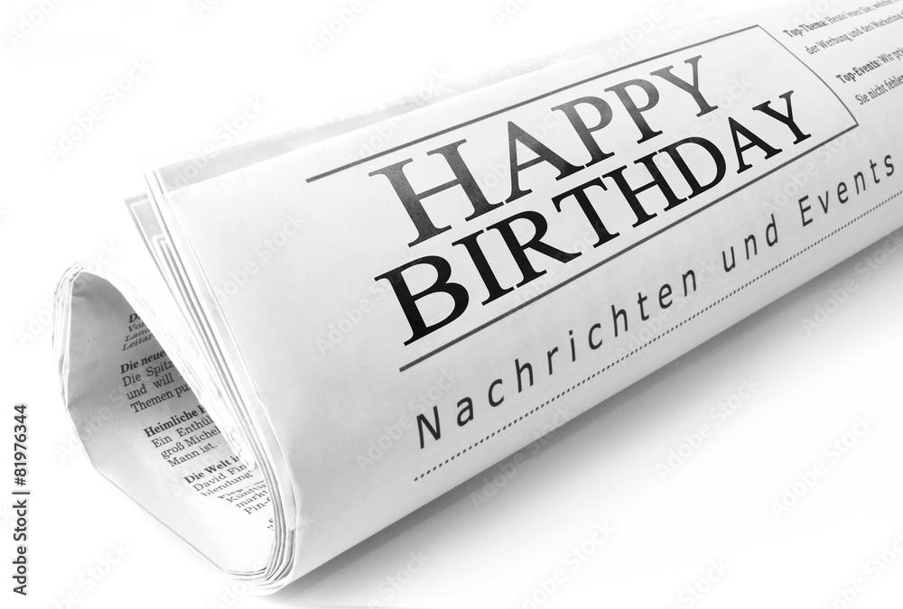 happy birthday headline fotografie tablou europosters ro