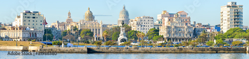 Poster Havana Panoramic image of Havana including the Capitol