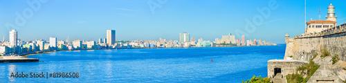 Poster de jardin Havana The Havana skyline including el Morro castle