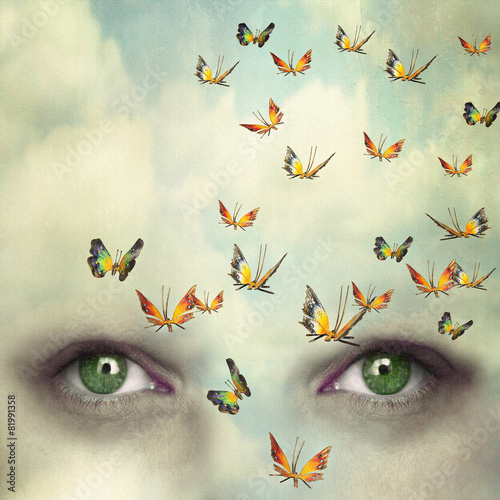 Wall Murals Surrealism Mind flying