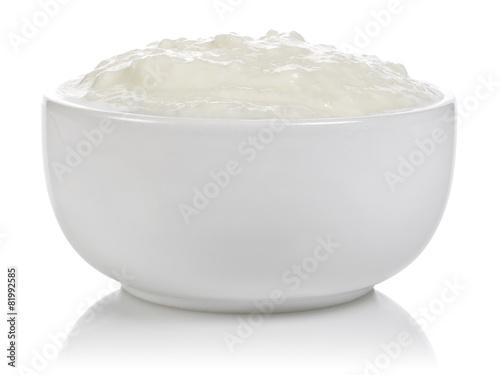 Staande foto Zuivelproducten Bowl of yogurt