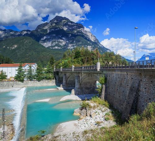 Foto op Aluminium Nachtblauw Italian Alps