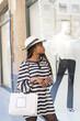 Beautiful elegant woman look showcase clothing, shopping lifesty