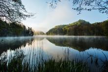 Sunrise On Trakoscan Lake In Zagorje, Croatia