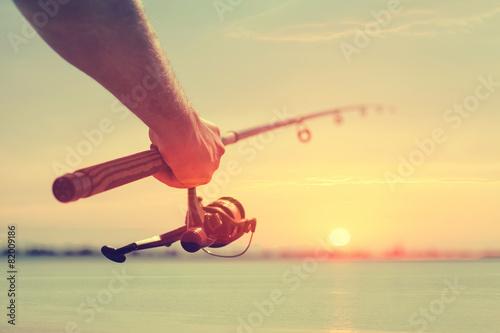 Foto auf AluDibond Gelb Schwefelsäure Fishing