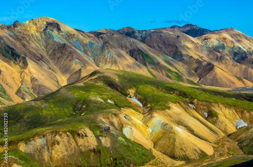 Fototapeta góry gory-islandii