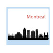 Montreal Canada city skyline silhouette vector illustration