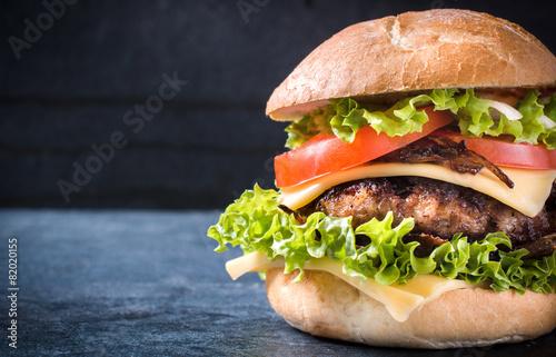 Fotobehang Restaurant Beef burger