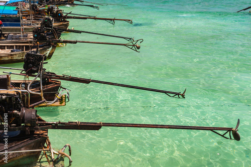 Foto  Longtail boats propellers