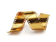 Golden Film Strip Isolated On ...