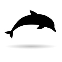 Silhouette Dolphin - Illustrat...