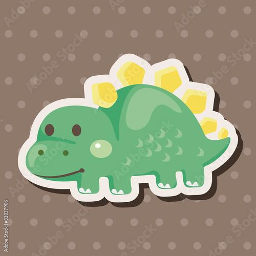 Photo  dinosaur cartoon theme elements