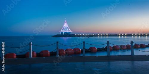 Photo Turkmenistan - Sunset in a resort