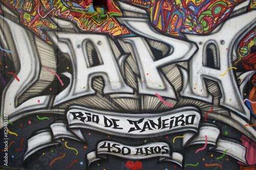 Lapa Rio de Janeiro Brazil Street Graffiti Tableau sur Toile