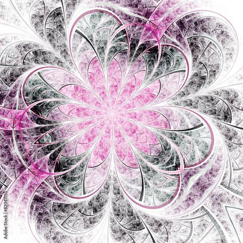 elegancki-fraktal-czarno-rozowy-kwiat-grafika-cyfrowa