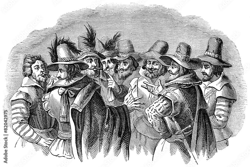 Fototapety, obrazy: Guy Fawkes and his fellow conspirators