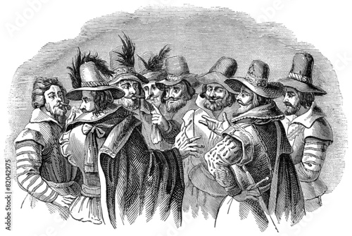 Photographie  Guy Fawkes and his fellow conspirators