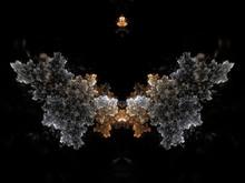 Feathery Light Fractal Plant In Growth, Digital Artwork