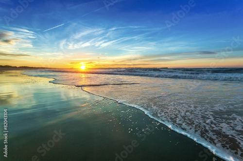 Foto op Plexiglas Blauw Sunset