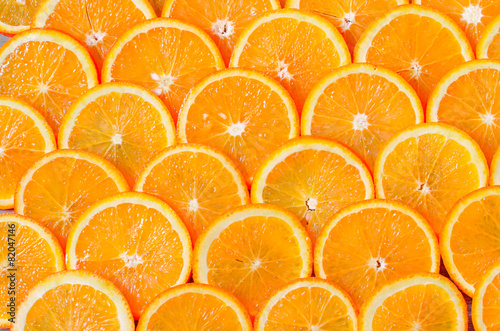obraz dibond Orange Slices Background