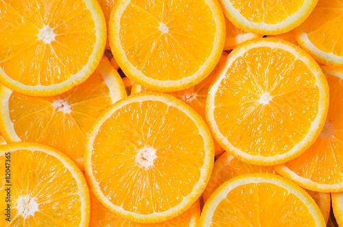 Foto op Aluminium Vruchten Orange Slices Background