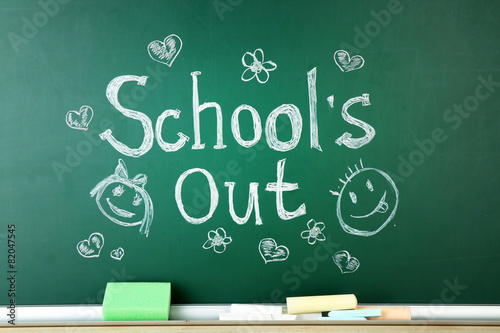 Fotografija  Inscription on blackboard background