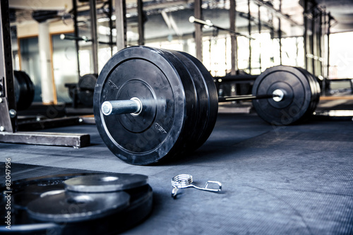 Fotografia  Closeup image of a fitness equipment