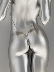 Fototapeta Erotyka Silver female body