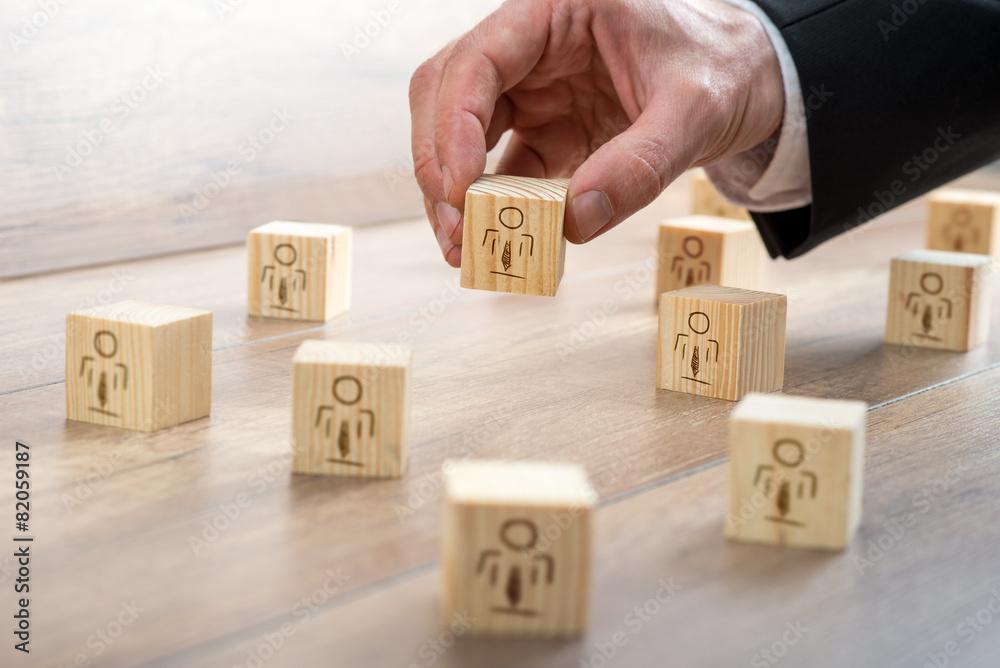 Fototapeta Blocks for Customer-Managed Relationship Concept