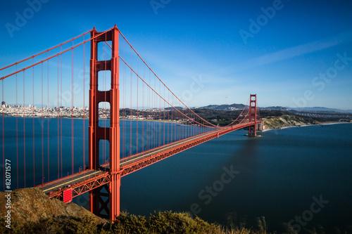 Keuken foto achterwand San Francisco San Francisco Golden Gate Bridge and cityscape at sunset