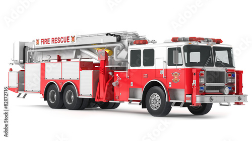 Photographie fire truck isolated