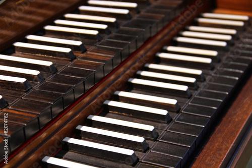 Old harpsichord keys - 82074782