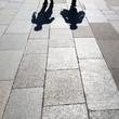 canvas print picture - Schattenmenschen